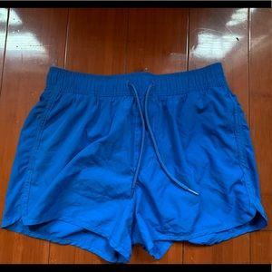 Mens blue swing shorts